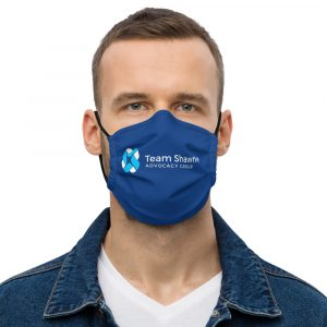 Team Shawnie Blue – Premium face mask