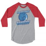 Seekonk Warriors 1 – Unisex 3/4 sleeve raglan shirt