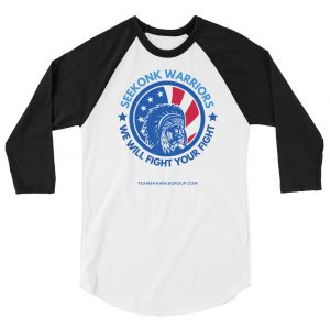 Seekonk Warriors 2 – Unisex 3/4 sleeve raglan shirt